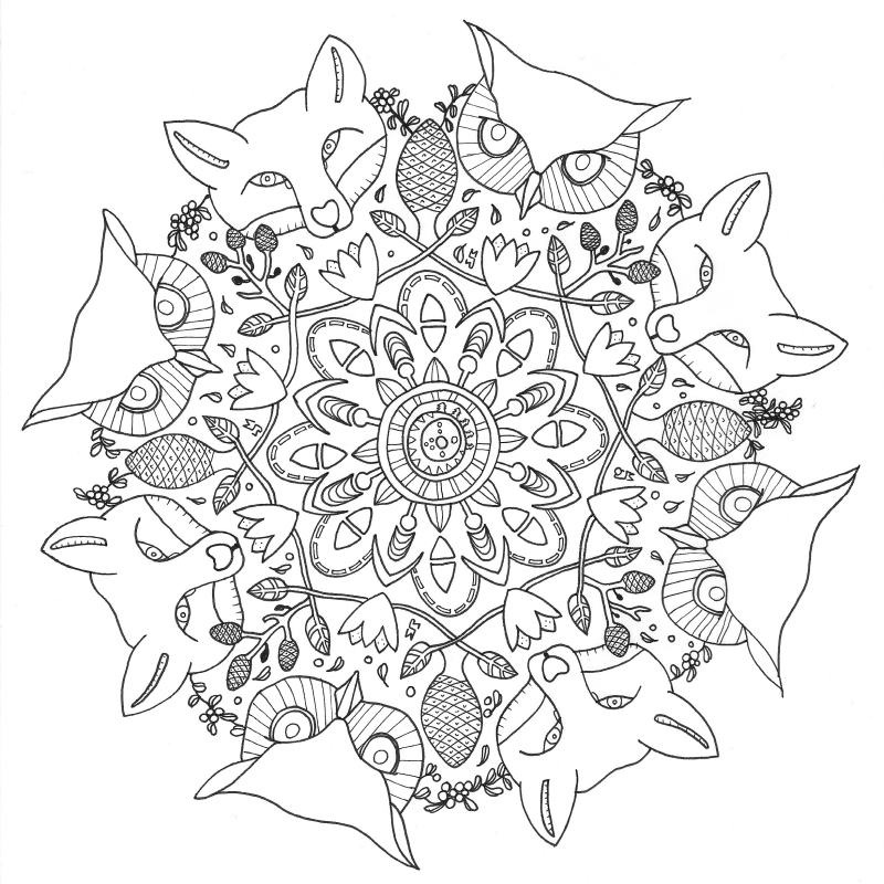Coloring Pages For Grown Ups Pdf : Black white mustard a colouring book for grown ups page