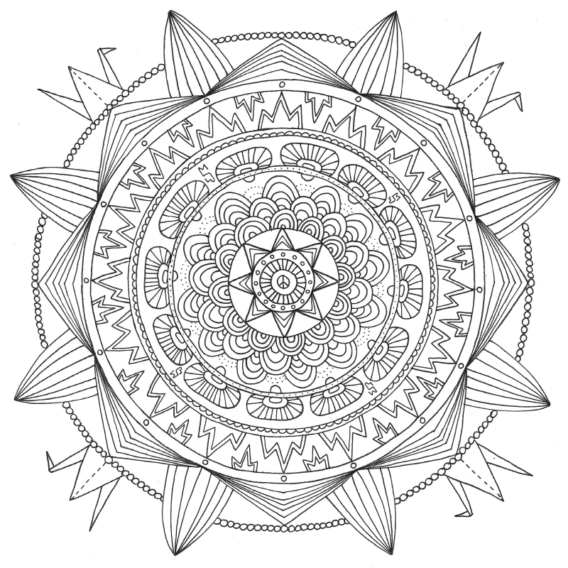 20150805 colouring book for grown ups adults coloring black white